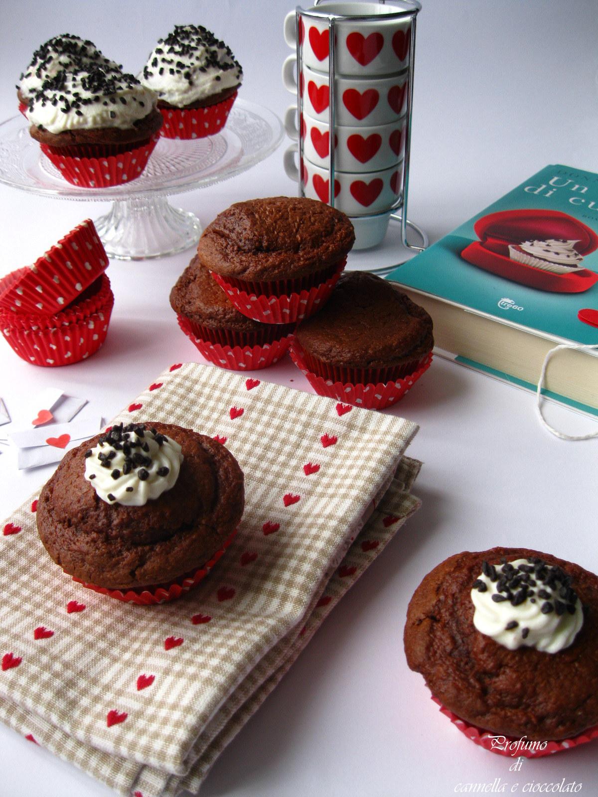 Cupcake alla rapa rossa con crema alla ricotta e nutella (5)