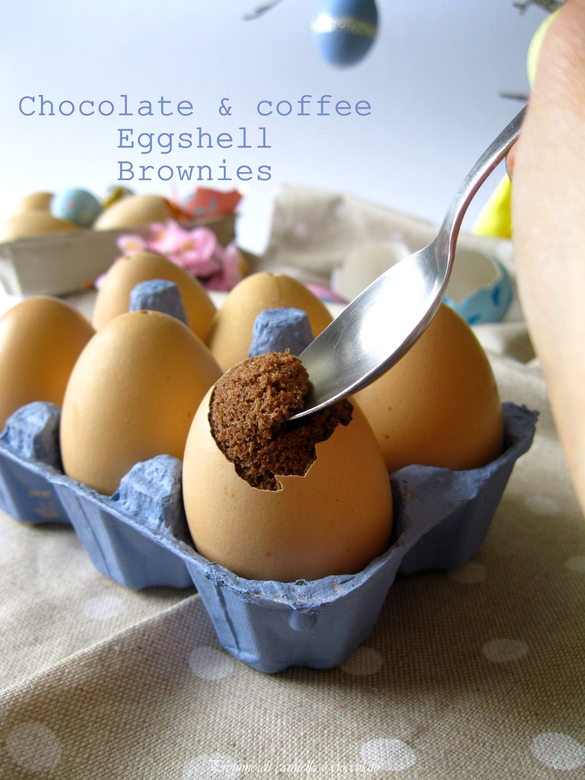 egg shell brownies