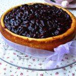 Cheesecake con amarene sciroppate e confettura di ciliegie