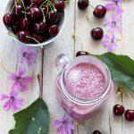 Smoothie ciliegia e cocco
