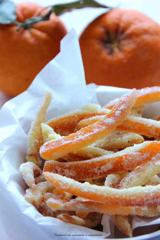 Scorze di arancia sabbiate o arance candite