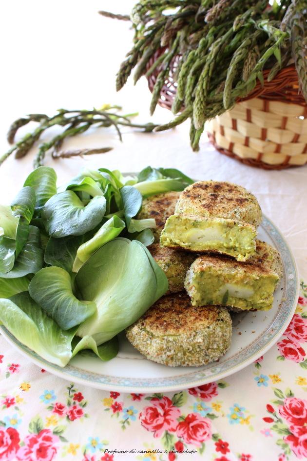 polpette asparagi selvatici patate e ceci 3