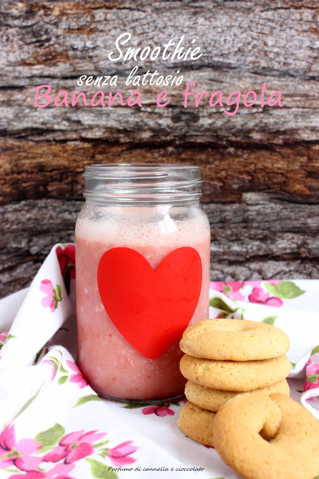 smoothie senza lattosio fragola e banana