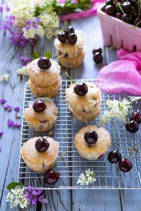 Muffin vegan alle ciliegie