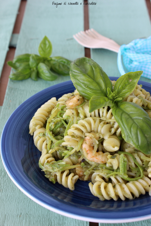 1fusilli con zucchine pesto e gamberetti 3