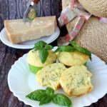 Muffin parmigiano reggiano e basilico