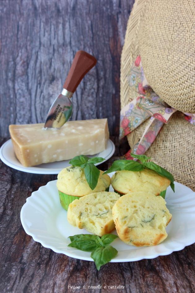 muffin salati parmigiano e basilico 3