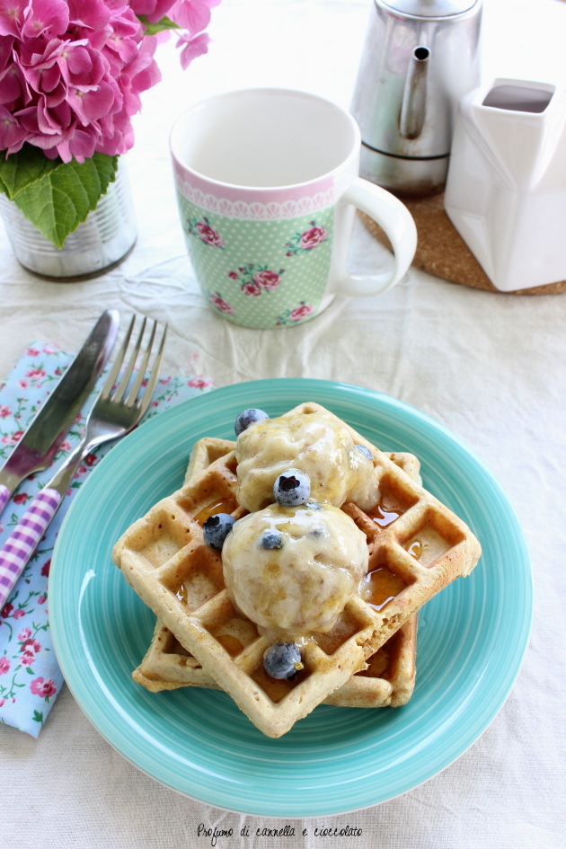 waffles integrali con nana icecream 5