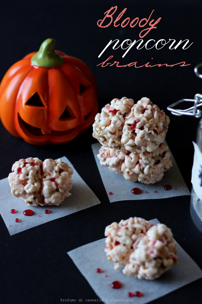Bloody popcorn brains : cervelli pop corn per halloween