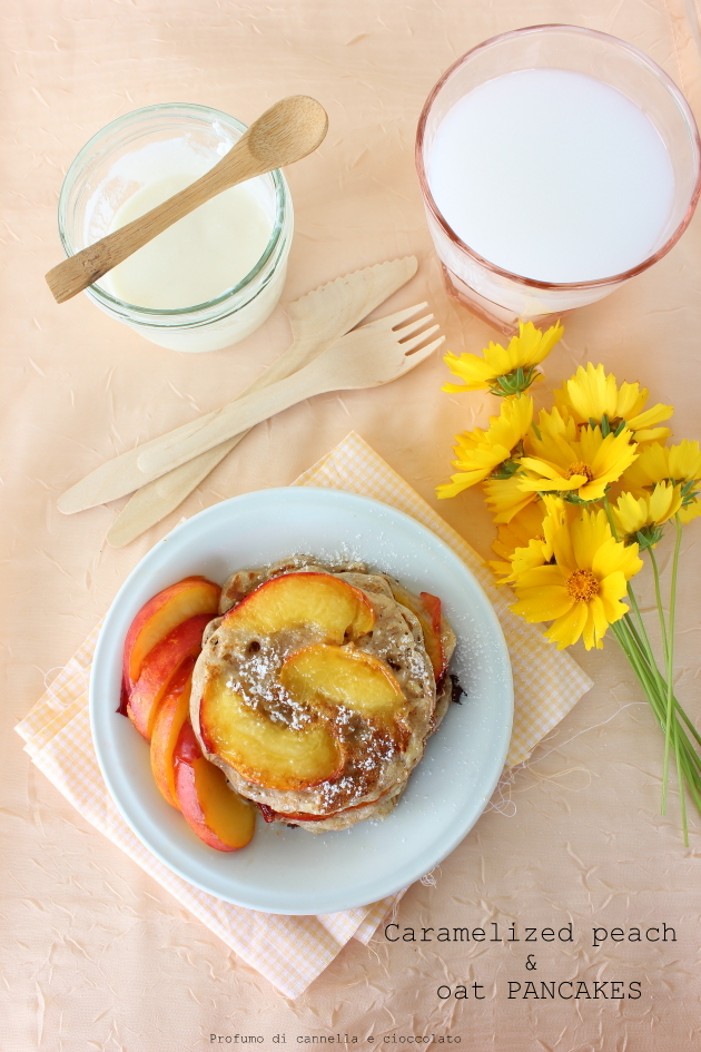 caramelized peach and oat pancakes (3)