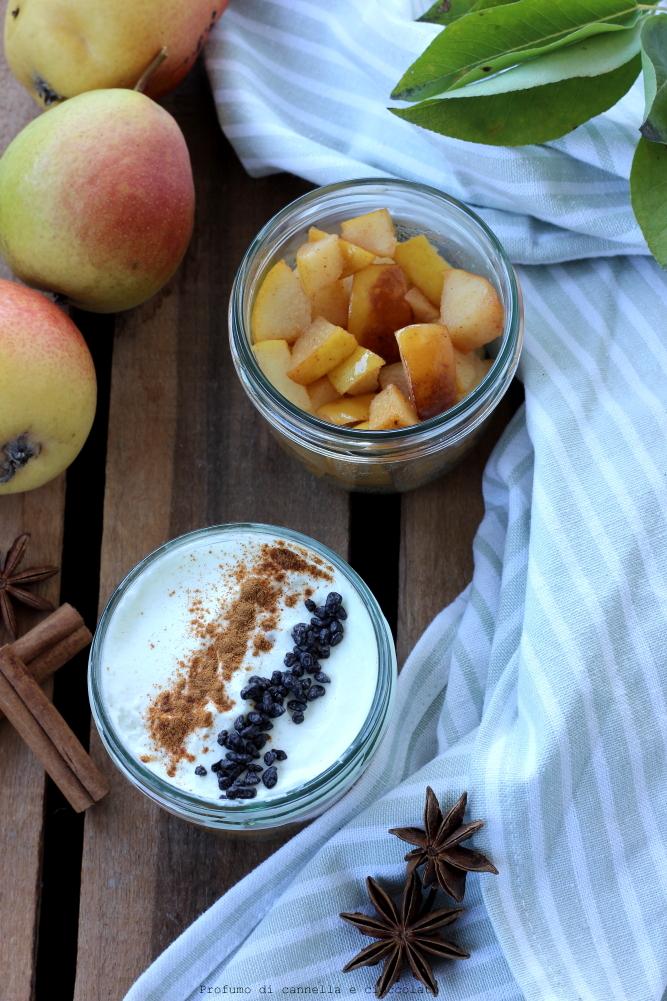 bicchierini pere e yogurt greco (3)