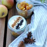 Bicchierini pere e yogurt greco