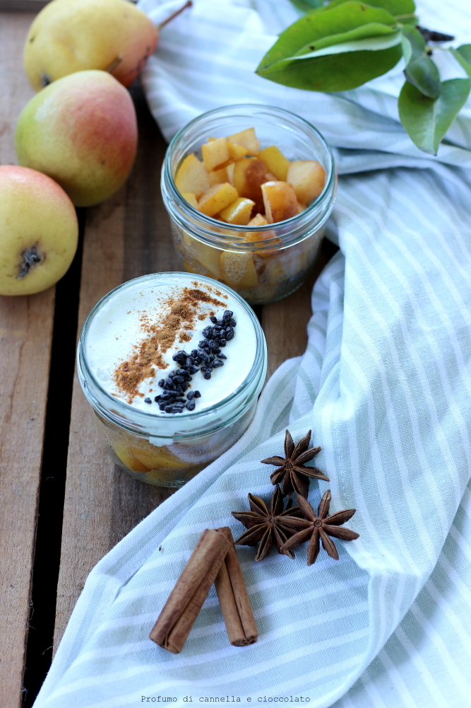 bicchierini pere e yogurt greco (5)
