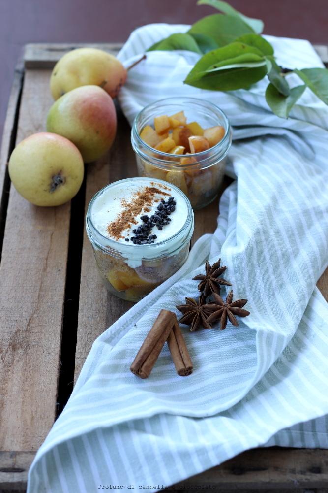 bicchierini pere e yogurt greco (6)