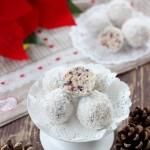 Tartufi bianchi frutta secca mirtilli rossi e cocco