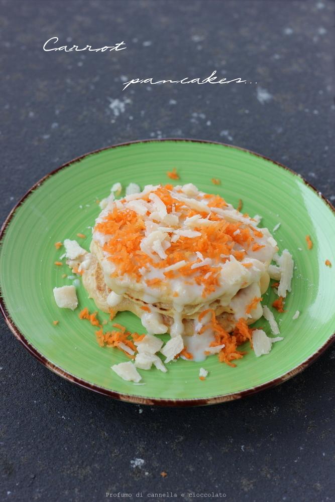 Carrot pancakes con fondutina di parmigiano (2)