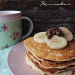 Vegan banana pancakes per il pancakes day