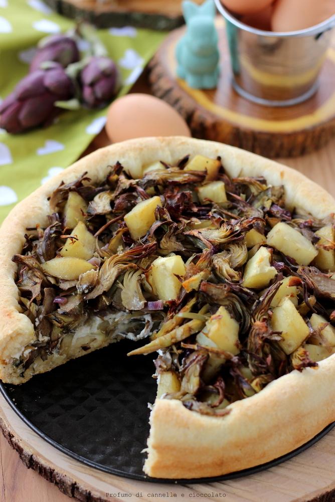 bavarese lievitata con carciofi e patate (1)