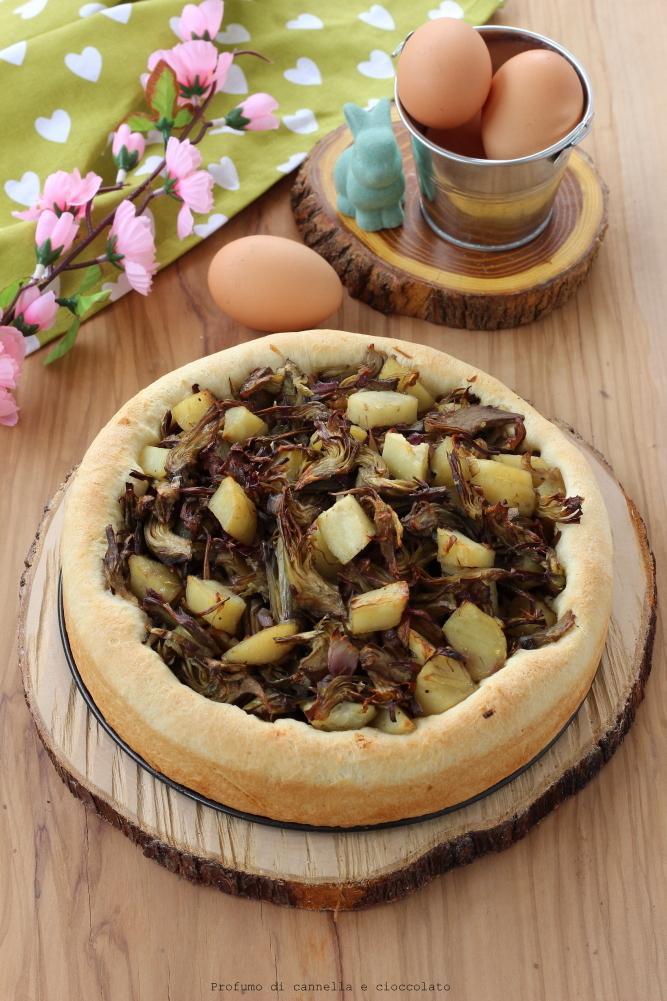 bavarese lievitata con carciofi e patate (2)