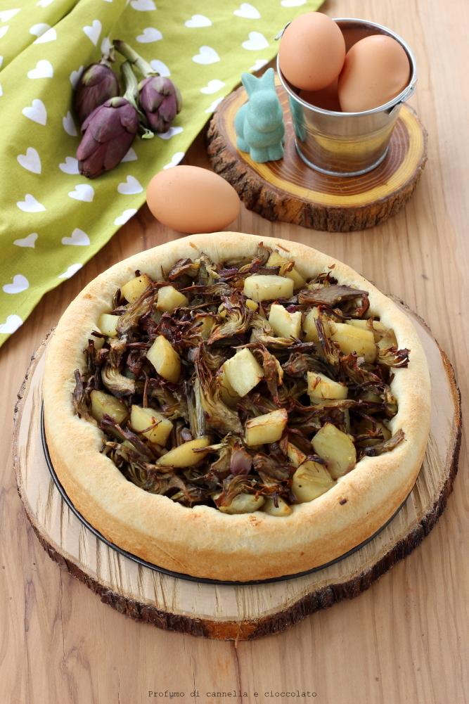 bavarese lievitata con carciofi e patate (3)