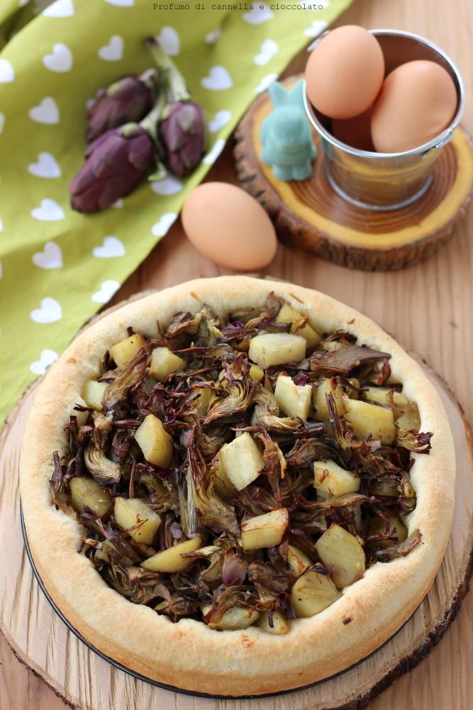 bavarese lievitata con carciofi e patate (5)