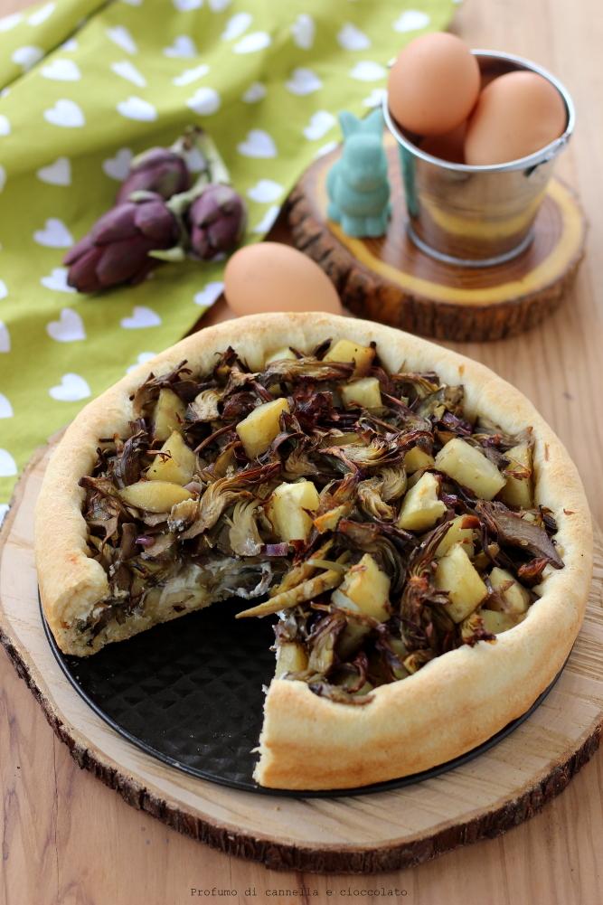 bavarese lievitata con carciofi e patate (7)