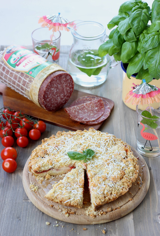 sbriciolata salame milano clai, pomodori e crescenza 4