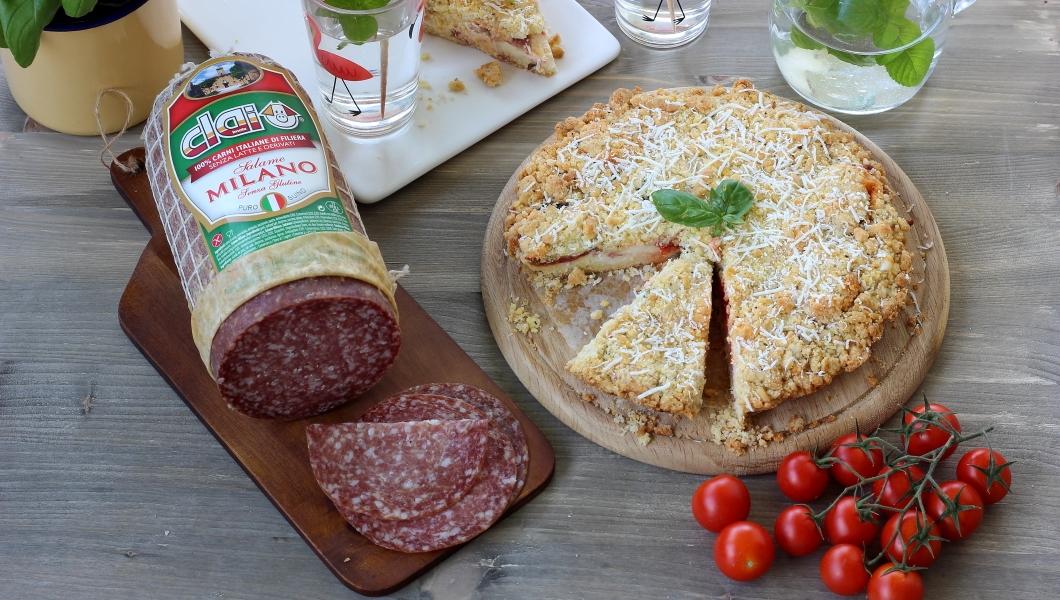 sbriciolata salame milano clai, pomodori e crescenza immagine-principale
