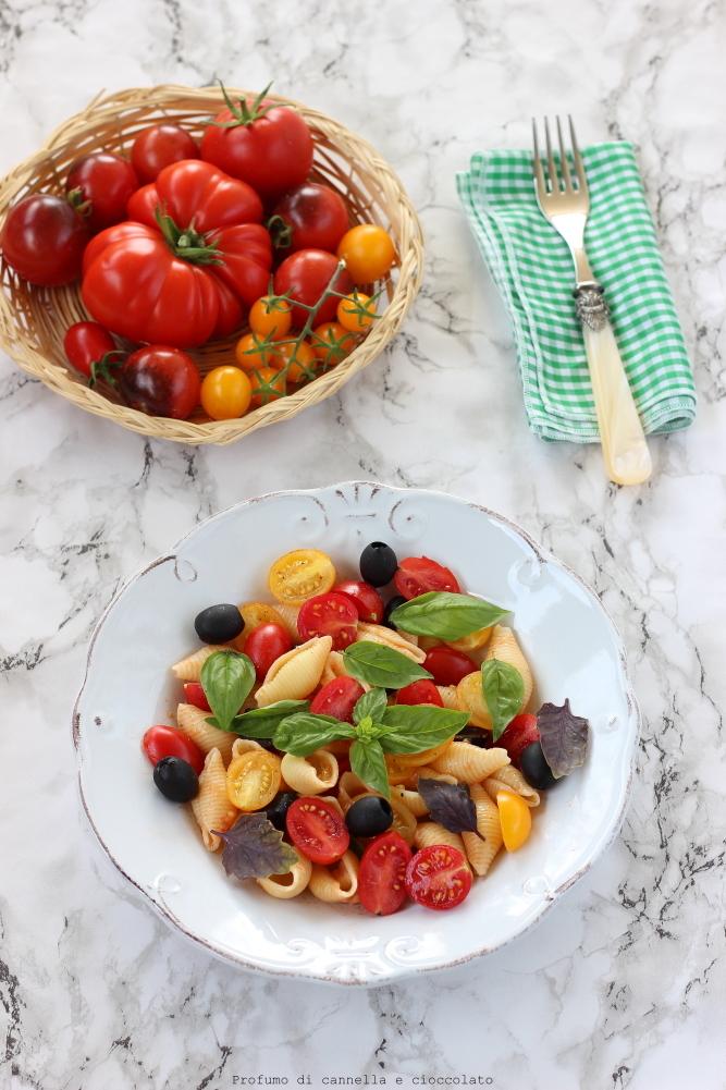insalata di pasta con pomodori olive e mozzarella (1)