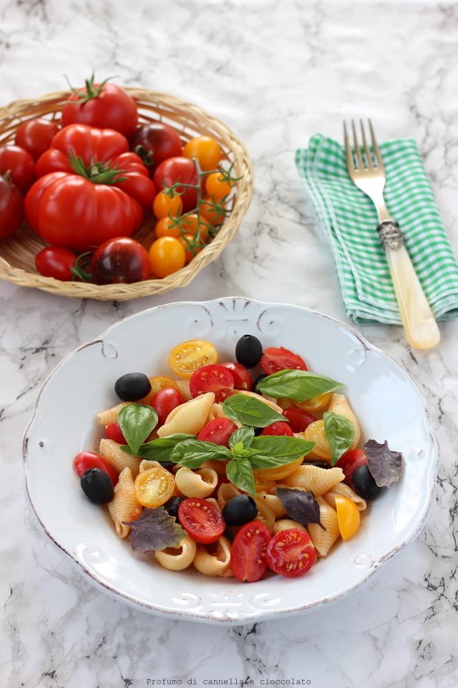 insalata di pasta con pomodori olive e mozzarella (2)