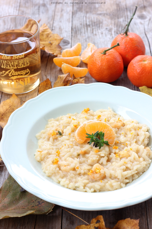 Risotto ai gamberi, mandarini e timo