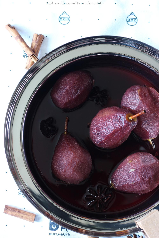 Pere al vino rosso speziato