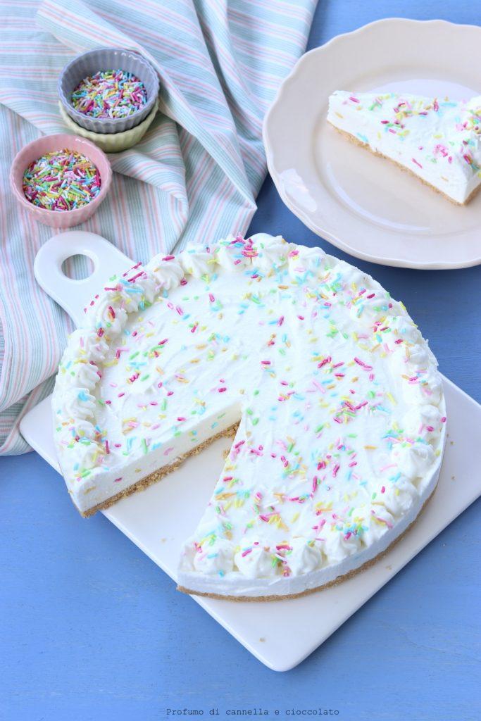 Funfetti yogurt cheesecake