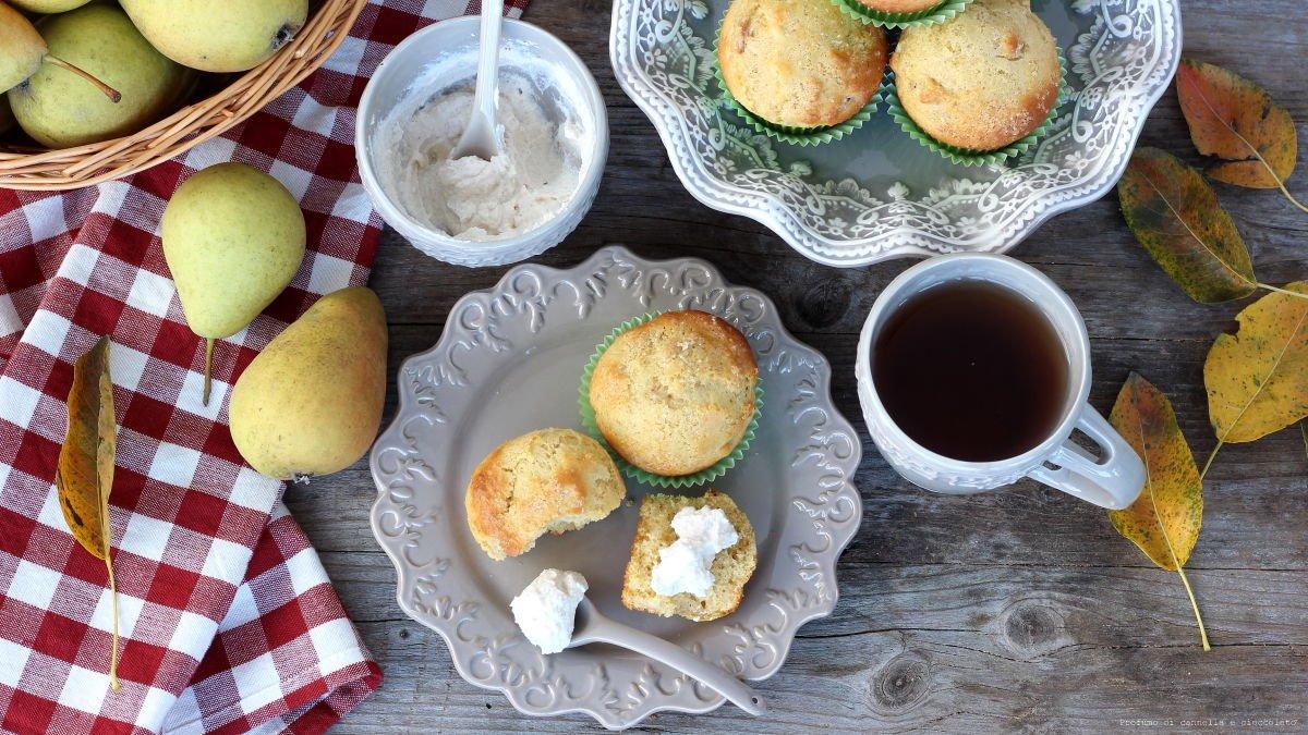 Muffin alle pere e ricotta