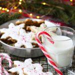 Biscotti fiocchi di neve alle mandorle e menta