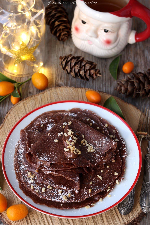 Crepes con farina di castagne e crema di nocciole