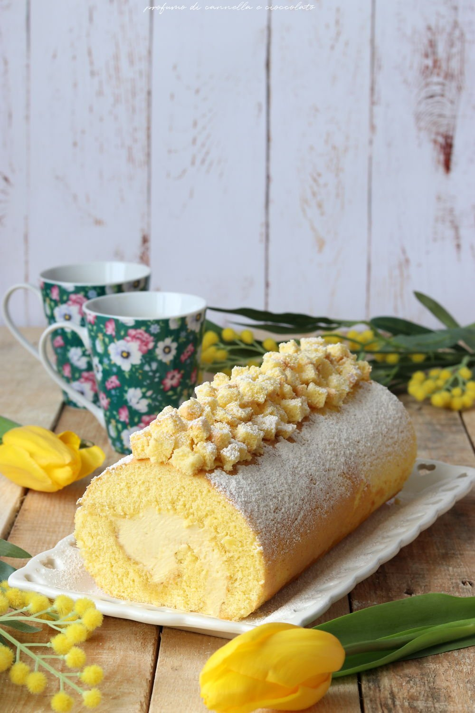 Rotolo al limone con crema al mascarpone
