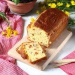 Plumcake salato ai peperoni e prosciutto