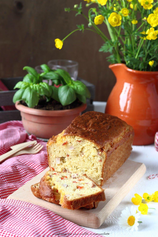 plumcake salato prosciutto e peperoni