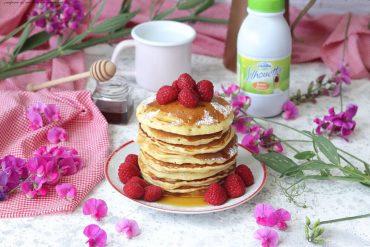 Pancakes con sciroppo d'acero