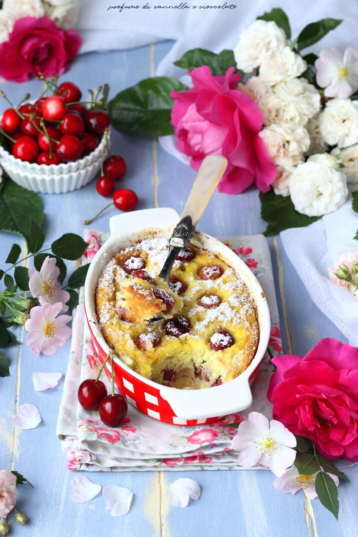 Clafoutis ciliegie e cocco