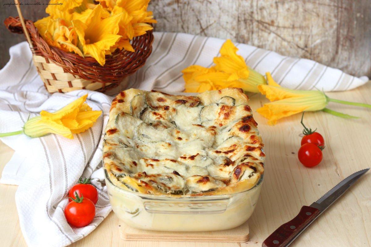 Lasagne estive con zucchine e fiori di zucca