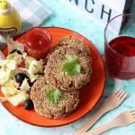 Burger vegetali di lenticchie e piselli
