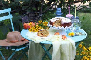 Torta soffice mandorle e albiocche