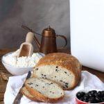 Pane integrale alle olive con macchina del pane