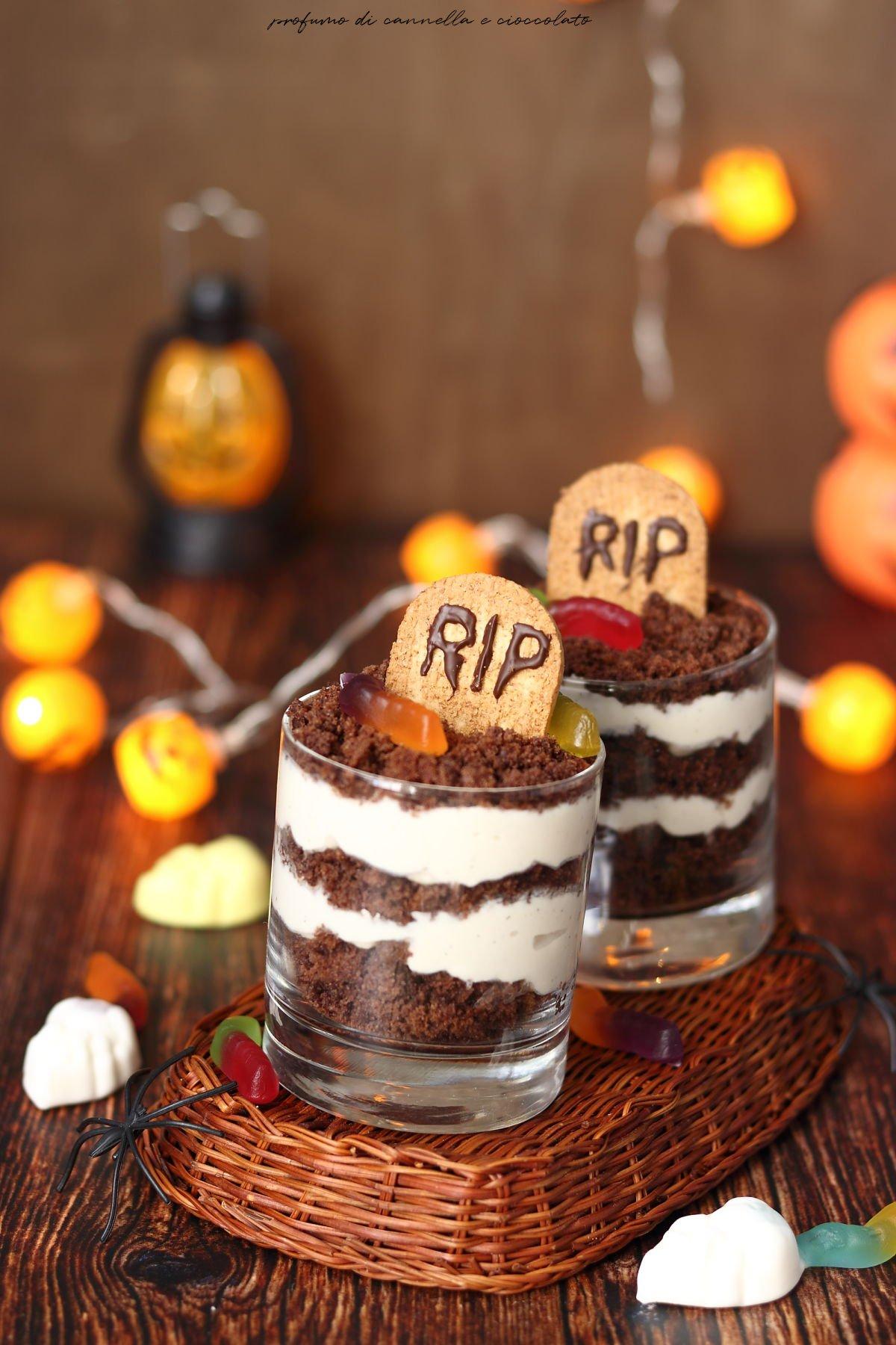 Bicchierini tomba per halloween