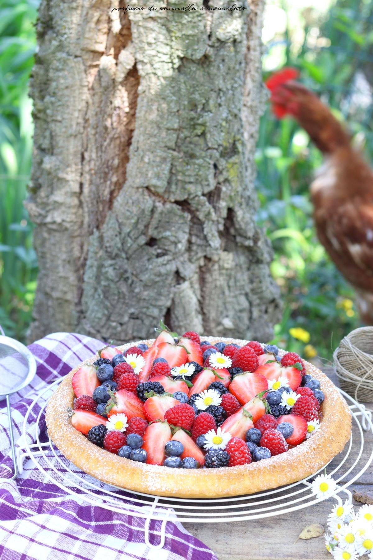 Crostata morbida ai frutti di bosco
