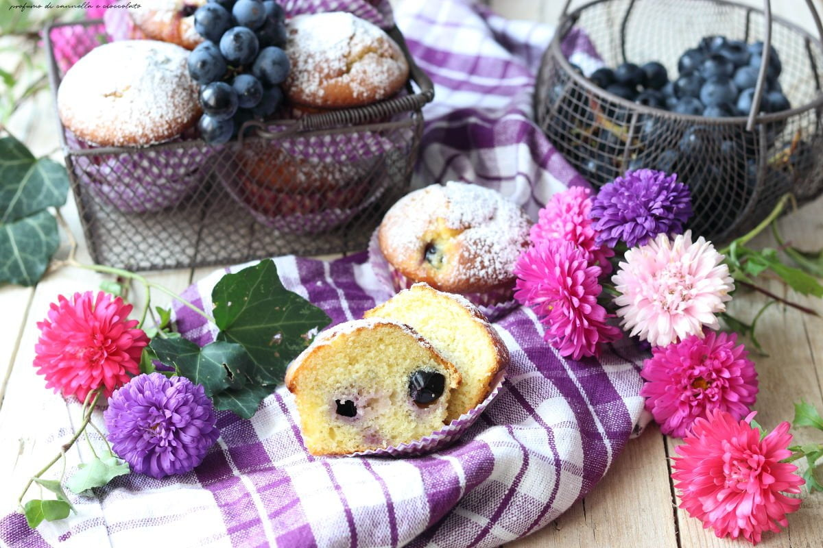 Muffin all'uva nera