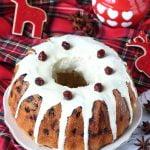 Bundt cake cranberry e cioccolato bianco