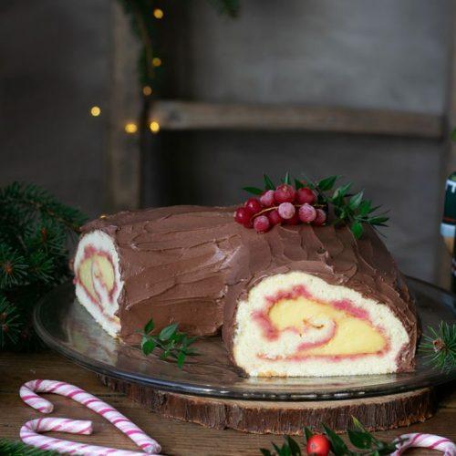 Tronchetto Di Natale Light.Tronchetto Al Cioccolato E Crema Pasticcera